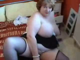 masturbating, woman, fat