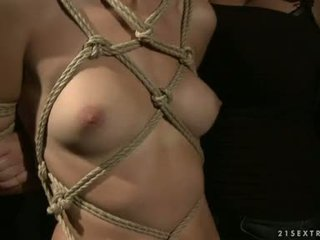 lesbietes, verdzība sex, rope tied babes