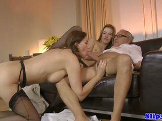 szex hármasban, régi + young, hd porn