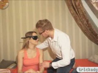 GF Fucked By A Friend While Blindfolded