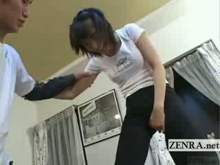 Subtitled japans ballet slaapkamer stretching voorspel