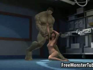 3d pirang babeh gets fucked by the incredible hulk