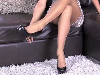 Shiny Dress Pantyhose Gold Nails, Free HD Porn 0b