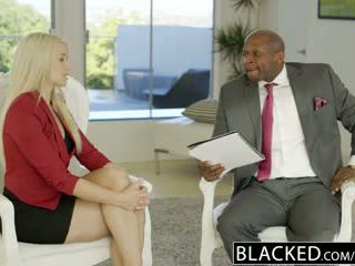 Blacked negócio loira anikka albrite cu fodido por um bbc