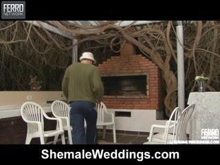 Heet shemale weddings scène starring senna, rabeche, alessandra