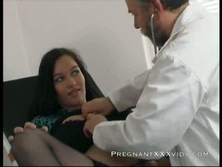 grávida, mamãe, médico