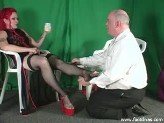 Foot Slave Sniffs Feet