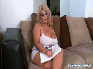 big boobs, mature, blonde