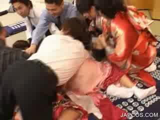 Japānieši geisha gets mute fingered