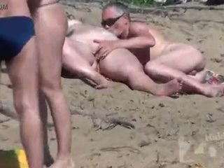 chupar, voyeur, playa