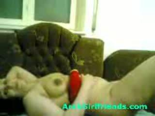 Sừng arabian trái banh nhỏ gets pumped qua hung lover trong tự chế