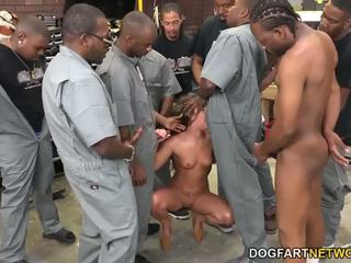 Amirah adara fucks an entire crew van zwart guys