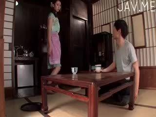 japonais, bébé, éjaculation