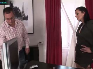 Businesswoman cameron gets what she wants from repairman