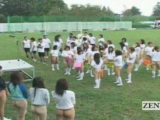 Subtitled bottomless на открито япония schoolgirls assembly