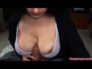 brunette, melons, big boobs