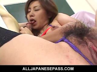 Sexy Asian Babe Rough Mouth And Pussy Penetrating