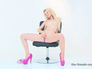 Hot Blonde Coed Masturbates with a Rabbit Vibe