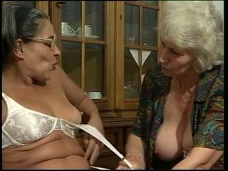 Two granny toying their own pussy!