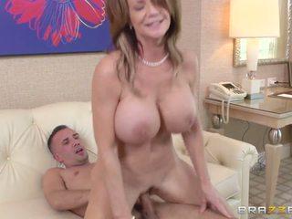 blowjob, big tits, mom