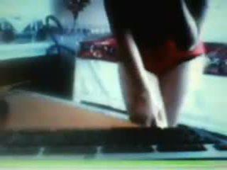 webcam, nastolatek, domowej roboty
