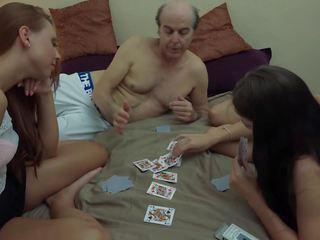 Ugly Grandpa vs Beautiful Young Girls in Hardcore.
