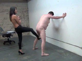 Asian Boss Ball Busting Slave, Free Fe...