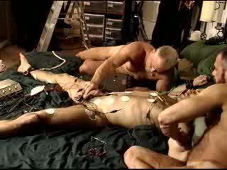 Full body electro, cock, balls, butthole, chest, tits. HUGE Dicked Scott Skinner