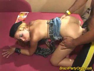 Cô gái tóc vàng smaba dancer are banged tại bên