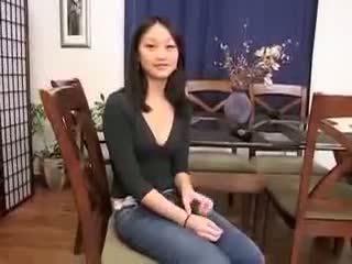 China chica evelyn lin primero tiempo anal