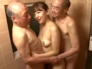japanese, threesomes, old+young