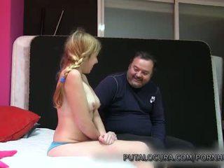 Puta locura naive latina jovem grávida creampied por velho homem