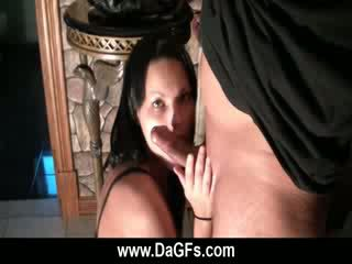 French hot girlfriend shows her oral talents