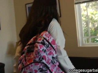 brunette, coed, college girl