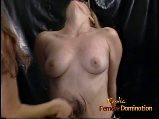 Raunchy Blonde Slut with Big Tits gets Whipped Hard by a