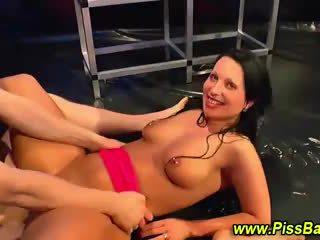 Dirty golden shower slut