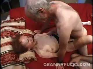 granny, cumshot, threesome