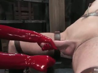Submissive Person Having Penis Tortured In Woman Domination Roped Activity