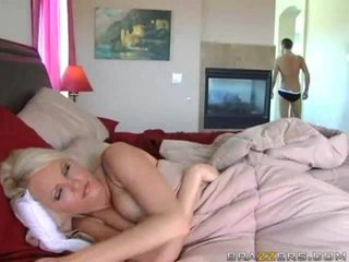 big tits, bed, from behind