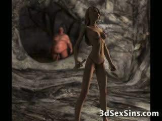 porno, groot, pik