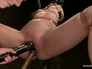 Her Mouth Is Chained And Wide Open For Some Insertions