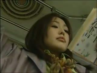 japānas, lesbiete, autobuss