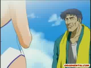 Sexy jap cartoon hot fucked and cream pie in the beach