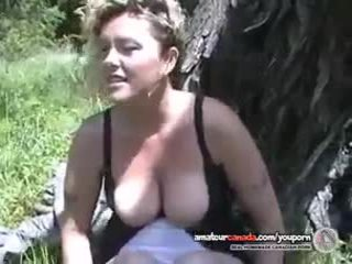 Sex confessions by a blonde geek amateur outdoors