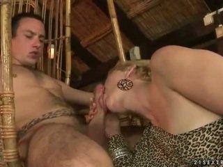 Babica in fant enjoying vroče seks