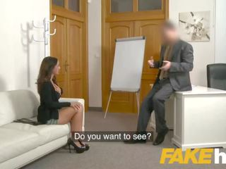 Fake Agent Spunk loving tattooed Spanish babe Claudia Bavel in sex casting