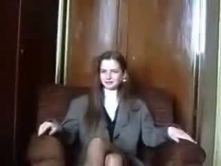 Срамежлив латвийски virgin е seduced на camera част 1