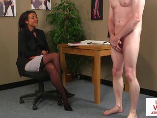 british, office, femdom