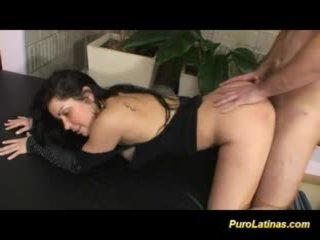 Busty puro latina fucked hard at the casting licking balls