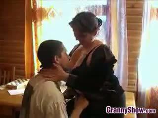 Chubby Grandma Getting Some Dick In Her